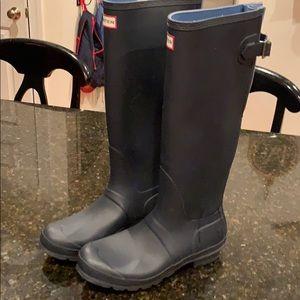 Hunter tab rain boots size 10